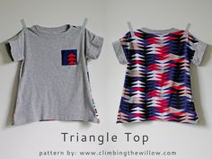 Climbing the Willow: free pattern - triangle top size 2/3