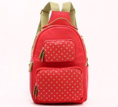 Backpack-Medium-Racing Red/Olive Green-Natalie Michelle