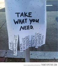 take what u need