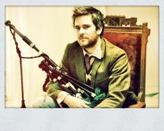 Peter Purvis.  No one else could make playing the bagpipes so hot. He plays for Gaelic Storm and has many solo albums.