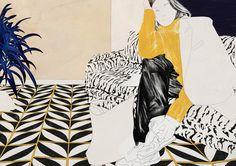 Fashion Illustration - Spiros Halares - monstylepin #fashion #illustration #sketch #print #graphic #spiroshalares