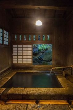Some of us are bathing, as well as some are bathing. Yet there are ways to be both, like what Japan discovered centuries ago when they created ofuro, or soaked. Here is an imaginative concept for a Japanese bathroom design that you can apply at home. Japanese Bath House, Japanese Living Rooms, Japanese Style House, Japanese Bathroom, Traditional Japanese House, Japanese Sauna, Japanese Homes, Farmhouse Architecture, Japanese Architecture