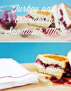 Turkey and Cranberry Sandwich Melt recipe (in case anyone is making turkey for #Christmas) | #food #leftovers #recipe #protein
