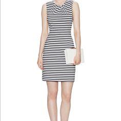KATE SPADE SPACE STRIPE SHEATH DRESS Navy. Sold out everywhere. kate spade Dresses Midi