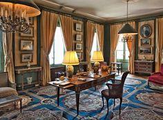 1er étage - le salon bleu | Paris:Musée Nissim-de-Camondo | Pinterest