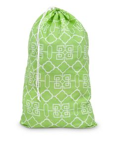 Take a look at this Green Lattice Laundry Bag by Buckhead Betties on #zulily today!