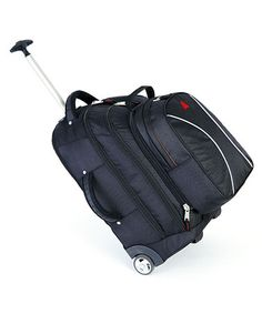 Take a look at this Black Wheeled Backpack by Athalon on #zulily today! $100 !!