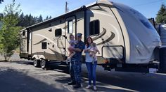 JESSICA AND GREGORY's new 2016 Sunset Trail 32BH! Congratulations and best wishes from Clear Creek RV Center and Luis Nader.