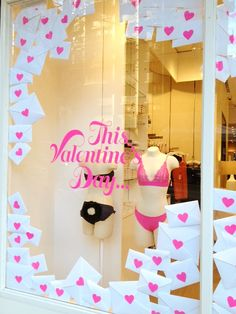 Valentine's Day window display | VM | Visual merchandising | Shop window | Window dressing | Window decals | Window graphics | Custom printing | Custom printed