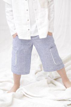Boys cargo shorts, Toddler boy linen pants