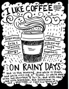 coffee+rainy days = better days
