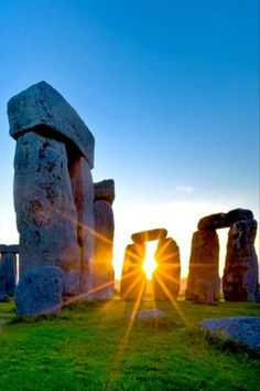 Golden Sun Through Stonehenge, Wiltshire England