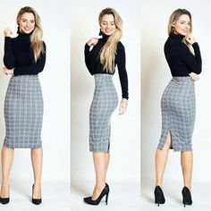 Womens Fashion For Work Professional Attire Office Outfits Ideas Classy Work Outfits, Casual Skirt Outfits, Business Casual Outfits, Mode Outfits, Office Outfits, Work Casual, Chic Outfits, Fashion Outfits, Business Attire