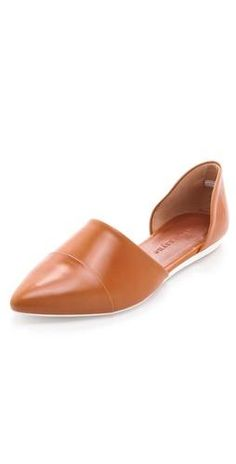 D'Orsay flats - I would have to see these on - the pointy toe and the color are perfect, but who knows how the angle across