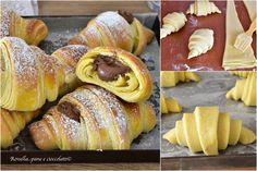 Danishes, Italian Cookies, Confectionery, Relleno, Crepes, Biscotti, Doughnut, Italian Recipes, Sweet Recipes