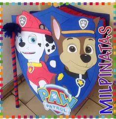 piñata entamborada paw patrol, patrulla canina,chase,marshal