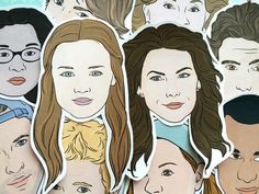 Stickers: Stars Hollow by hollygolightning on Etsy