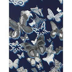 Christian Lacroix for Designers Guild Butterfly Parade Wallpaper ($88) ❤ liked on Polyvore featuring home, home decor, wallpaper, butterfly home decor, christian lacroix, butterfly wallpaper and christian lacroix wallpaper