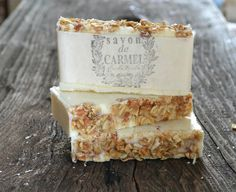 OATMEAL SOAP FAVORS with French style cotton bag