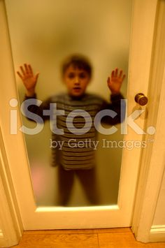 Behind frosted glass door royalty-free stock photo