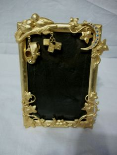 Ornate Victorian Style Picture Frame Baby Shoes Blocks Duck Rabbit Rhinestones  #Victorian