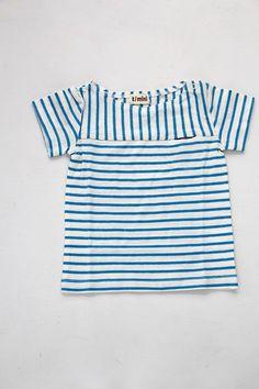 天竺ボーダーボートネックTシャツ/オフホワイト(OW) - 100% picnic.