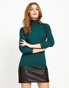An enviable collection of women's clothing and accessories from Lipsy London. Browse beautiful styles and designs. Green Fashion, Lipsy, Long Sleeve Sweater, Knitwear, Turtle Neck, Clothes For Women, Sweaters, Beautiful, Collection