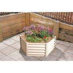 Hexies Hexagonal Raised Garden Bed LGE 65cm WIDTH X  41cm HEIGHT Paperbark