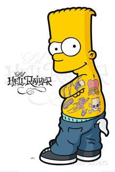Simpsons - bart hellraiser Pósters en AllPosters.es
