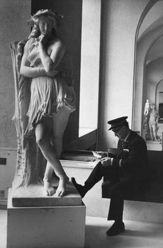 ♔ Louvre ~ Paris ~ by Henri Cartier Bresson