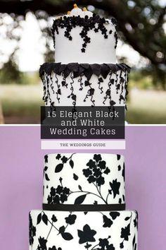 Elegant Black and White Wedding Cakes #rustic Black And White Wedding Cake, White Wedding Cakes, Diy Wedding, Wedding Ideas, Pretty Wedding Cakes, Amazing Wedding Cakes, White Cakes, Vows, Wedding Decorations