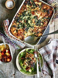 Paella, Lunch, Muffins, Pizza, Ethnic Recipes, Desserts, Eggs, Spinach, Tailgate Desserts