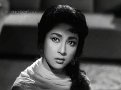 Mala Sinha 60's Bollywood makeup. http://www.lisaeldridge.com/video/25895/100-years-of-bollywood-modern-day-devdas-inspired-makeup-look/ #Makeup #Beauty #Bollywood
