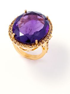 Oval Amethyst Ring by Bounkit at Gilt
