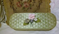 Vintage Glove Box, Mint Green, Redesigned, Custom Designed, Re-Purposed