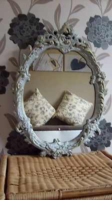 vintage retro old school shabby chic mirror