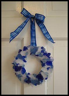 Sea Glass Wreath  For @Michele Morales Morales Morales Morales Morales Galioto @Kat Ellis Monti