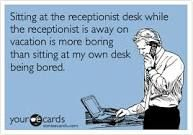 . Receptionist Desk, Vacation, Memes, Cards, Reception Counter, Vacations, Meme, Jokes, Maps