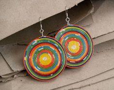 recycled paper earrings