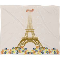 40% off 12/10 only with code FUZZYWUZZY40! Jennifer Hill Paris Eiffel Tower Fleece Throw Blanket   DENY Designs Home Accessories