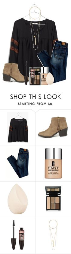 """about to get a cavity filled"" by ellababy13 ❤ liked on Polyvore featuring Madewell, Soda, American Eagle Outfitters, Clinique, Christian Dior, Maybelline, Chan Luu, women's clothing, women and female"