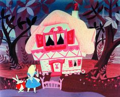 Bunny home. #alice #in #wonderland #white #rabbit #disney #art #illustration #mary #blair