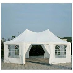 Outsunny 22 x 16 Large Octagon 8-Wall Party Canopy Gazebo Tent - White & Gazebo Tent Inner Kit | House stuff | Pinterest | Gazebo tent and ...