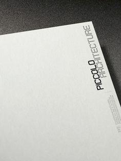 Minimalist letterhead by studio Visua for for Piccolo Architecture _