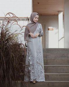 Image may contain: 1 person, standing and outdoor Kebaya Modern Dress, Kebaya Dress, Muslimah Wedding Dress, Hijab Wedding Dresses, Abaya Fashion, Muslim Fashion, Abaya Mode, Hijabi Gowns, Hijab Stile