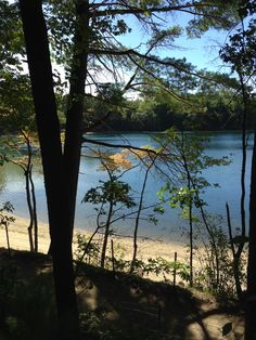 Walden Pond. Such a literary spot (even if I haven't, y'know, read it).