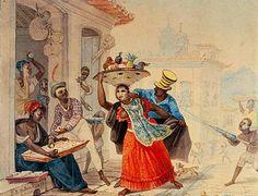 O entrudo no Rio de Janeiro, 1823 Jean-Baptiste Debret ( França 1768-1848) Aquarela sobre papel Museu da Chácara do Céu -- Rio de J...
