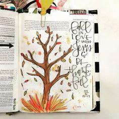 Bible Journaling by - seasonal journaling Scripture Art, Bible Art, Bible Scriptures, Book Art, Bible Drawing, Bible Doodling, Bible Study Journal, Art Journaling, Journal Art