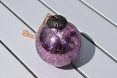 Antique Mauve Glass Witches Ball Gazing Ball