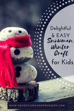Delightful and Easy Snowman Winter Craft for Kids- Simple winter craft for preschoolers and kids. Easy rock snowman winter craft that requires minimal effort to assemble. This adorable rock snowman is stunning as a homemade gift or decor. Pin now and craf